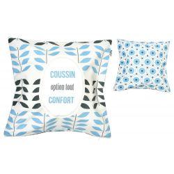 Dodo & Cath, Coussin Option tout confort, en coton 45 x 45 cm