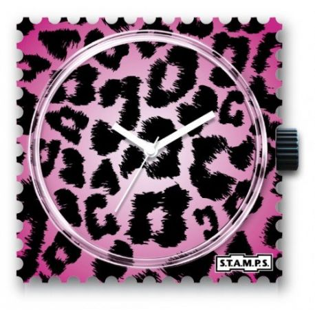 Stamps Cadran de montre Pink Leo