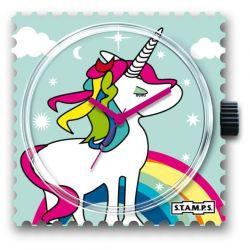 Stamps Cadran de montre Rainbow licorne