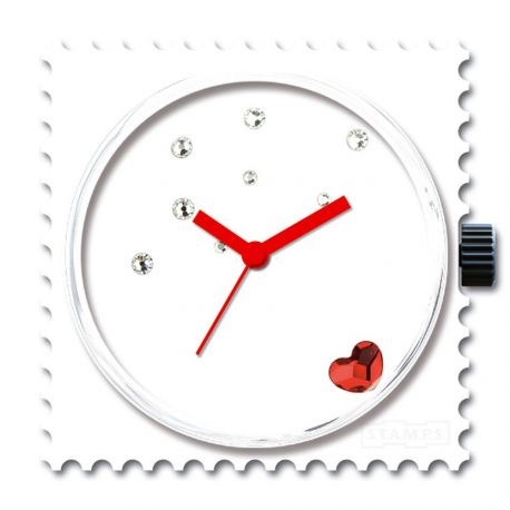Stamps Cadran de montre Funky Red Diamond Swarovski