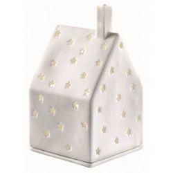Räder Maison décor étoiles photophore en porcelaine blanche