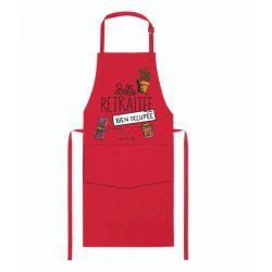 Belle retraitée - Tablier de cuisine, coton Vosges - Alma Mater