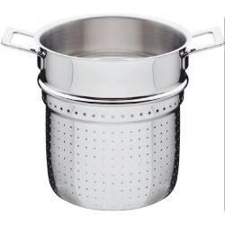 ALESSI - Pots & Pans Panier cuit-pâtes pour marmite Inox 20 cm