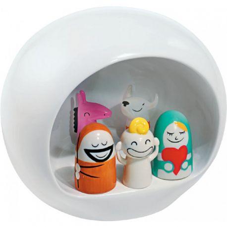 Presepe Crèche de Noël avec santons Porcelaine
