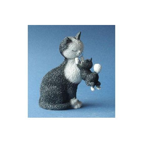 Chat Dubout - Les jours heureux noir, figurine 11 cm