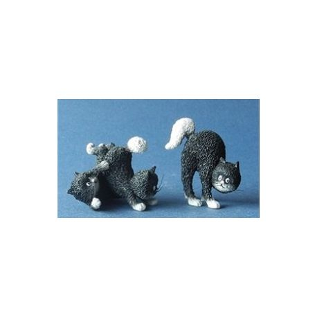 Chat Dubout - Les jours heureux noire (extra) figurine 5cm - Parastone