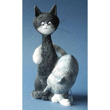 Chat Dubout - La charmeuse, figurine résine 13 cm