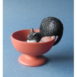 Chat Dubout - Gourmandise, figurine en résine 8 cm - Parastone