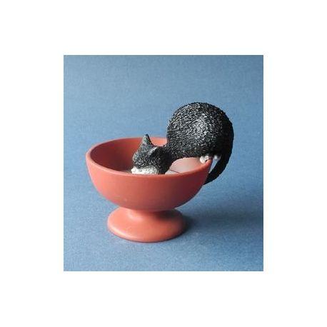 Chat Dubout - Gourmandise, figurine en résine 8 cm