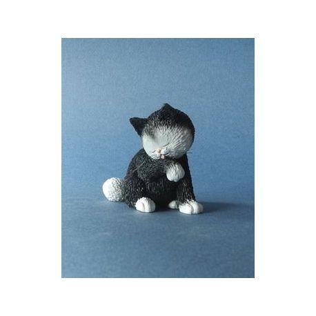 Chat Dubout - La Petite toilette, figurine en résine - Parastone