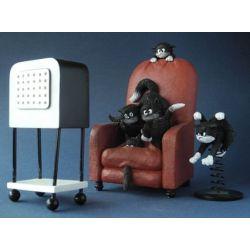 Chat Dubout - Quelle horreur figurine en résine - Parastone