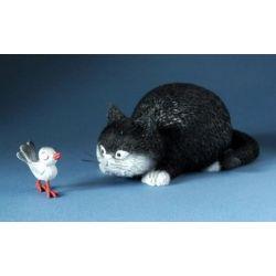 Chat Dubout - Attrape moi, figurine en résine 10x4cm - Parastone