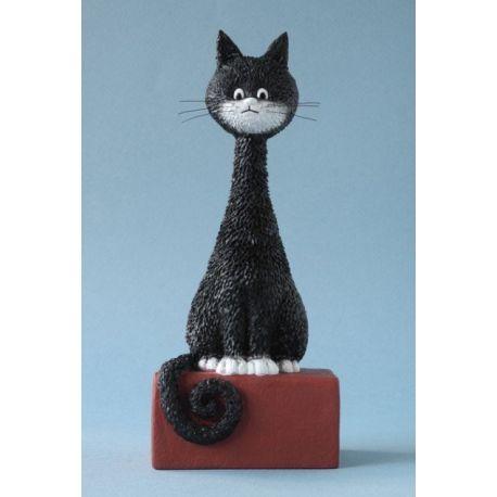 Chat Dubout - Kikou, figurine en résine 18 cm
