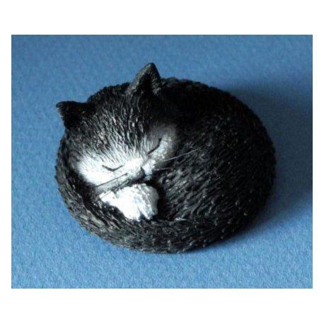 Chat Dubout - Siesta, figurine en résine 4 cm