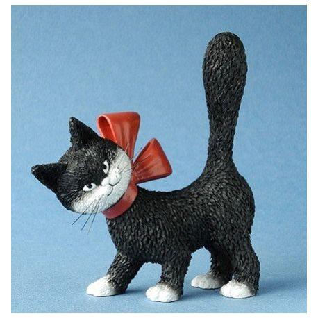 Chat Dubout La minette noire, figurine 11 cm résine
