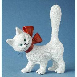 Chat Dubout La minette blanche, figurine 11 cm résine Parastone