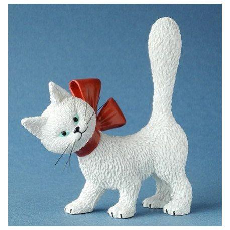 Chat Dubout La minette blanche, figurine 11 cm résine