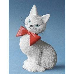 Chat Dubout - Coquette blanche figurine en résine - Parastone