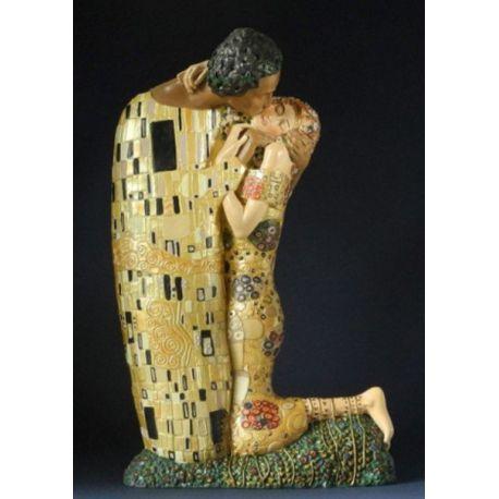 Le Baiser de Gustav Klimt - Statue 30 cm résine
