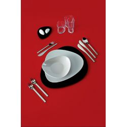 Colombina assiette plate, dessert, creuse Alessi porcelaine