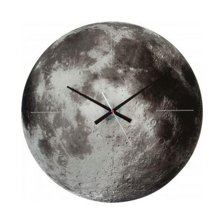 Moon, horloge murale 60 cm avec une photo de la lune, Karlsson