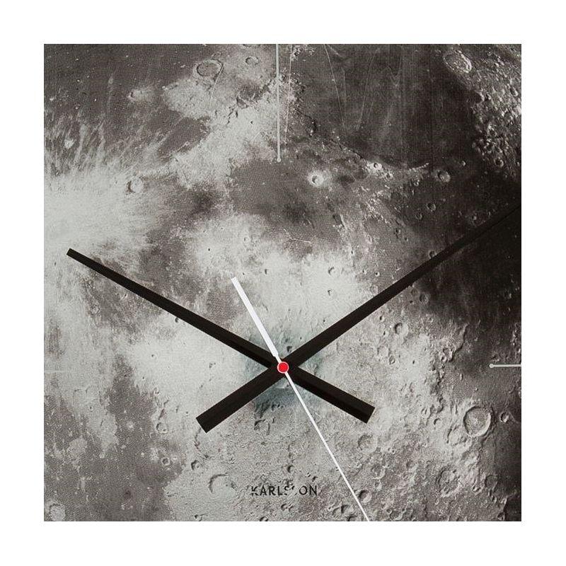 moon horloge murale 60 cm avec une photo de la lune karlsson. Black Bedroom Furniture Sets. Home Design Ideas
