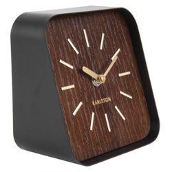 Squared, Horloge à poser au style vintage bois foncé Karlsson