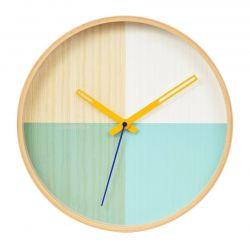 Flor, horloge murale entourage bois, plusieurs coloris Cloudnola