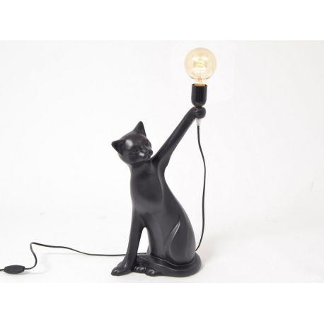 Shadow Drimmer Lampe à poser Chat avec ampoule 52 cm