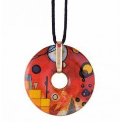 Pendentif reproduction d art en porcelaine Kandinsky Rouge lourd