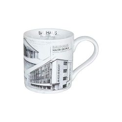 Mug porcelaine Le Corbusier, Gropius, Bauhaus Konitz