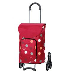 Scala Shopper Kira rouge, Chariot de courses 6 roues, Andersen
