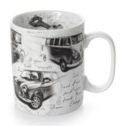 Autolegends Mug Mini Cooper VW Cox Citroen 2CV Konitz Porzellan