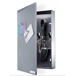 Velio, Armoire à clés design, façade en verre magnétique, Blomus