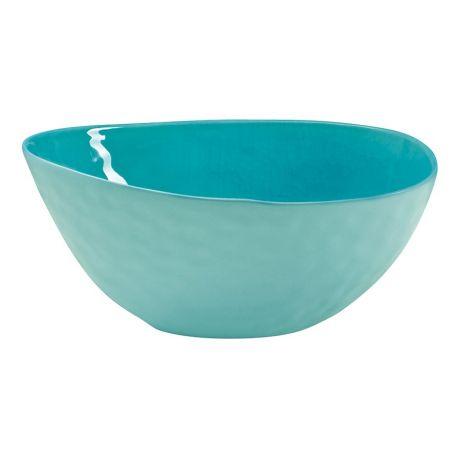 A la plage Selection Saladier ovale en porcelaine