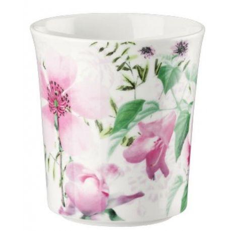Belles Fleurs Roses Mug Porcelaine Bone China