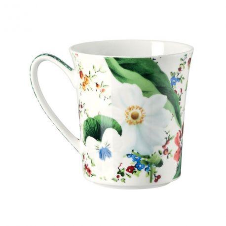 ROSENTHAL - Belles Fleurs Vertes Mug Porcelaine Bone China