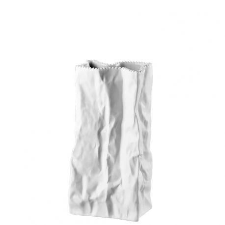 Do not litter Tutenvase Vase sac blanc Porcelaine 22 cm