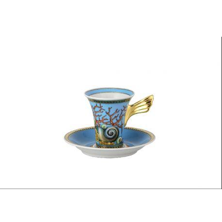 VERSACE - Trésors de la Mer Tasse et soucoupe à café