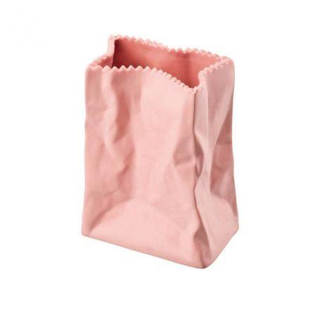 Do not litter Tutenvase Vase sac Porcelaine 10 cm