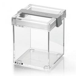Boite de cuisine carrée empilable gris Click & Fresh Guzzini Lab
