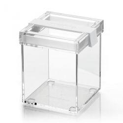 Boite de cuisine carrée empilable blanc Click & Fresh Guzzini Lab