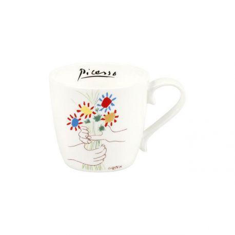 Le bouquet de l amitié de Picasso, mug en porcelaine Könitz