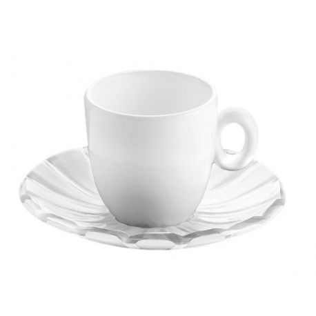 Grace 6 Tasses à café porcelaine design, 4 coloris