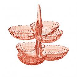 Tiffany Guzzini Set apéritif à étage en acrylique, 4 coloris