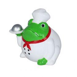 Frogmania chef cuistot Pomme Pidou, tirelire grenouille cuisinier