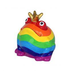 Frogmania Rainbow Pomme Pidou, tirelire grenouille Arc-en-ciel