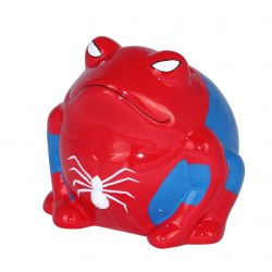 Frogmania SpiderFreddy Pomme Pidou tirelire grenouille Spiderman