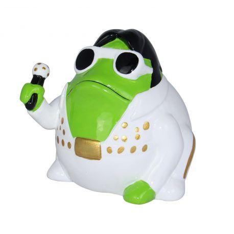 Frogmania Freddy Presley Pomme Pidou, tirelire grenouille Elvis