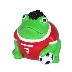 Frogmania Football Pomme Pidou, tirelire grenouille